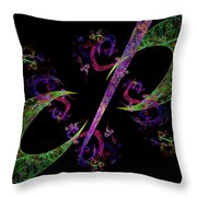 Abstract Psychedelic Modern Art Throw Pillow