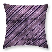 Abstract Purple Lines Throw Pillow