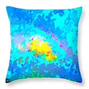 Abstract Rainbow And Clouds Throw Pillow