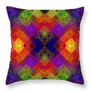 Abstract - Rainbow Connection - Panel - Panorama - Horizontal Throw Pillow