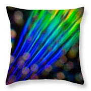 Abstract Rays Throw Pillow