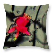 Abstract Red And Black Throw Pillow