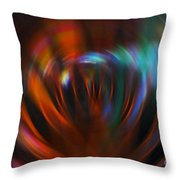 Abstract Red And Green Blur Throw Pillow