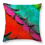 Abstract Red Blue Throw Pillow