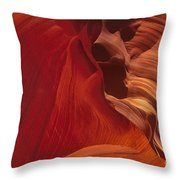 Abstract Red Sandstone Formations Lower Antelope Slot Throw Pillow