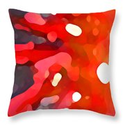 Abstract Red Sun Throw Pillow