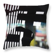 Abstract Reflection 18 Throw Pillow by Sarah Loft
