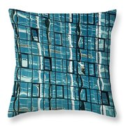 Abstract Reflections In Windows Throw Pillow
