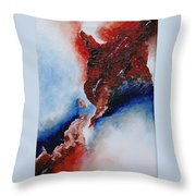 Abstract Rendezvous Throw Pillow