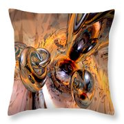 Abstract Ring Connections Throw Pillow