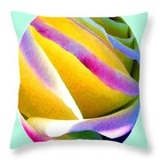Abstract Rose Oval Throw Pillow