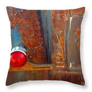 Abstract Rust Throw Pillow