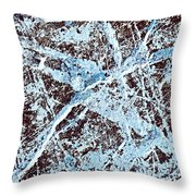 Abstract Scribble Pattern On Stone Throw Pillow