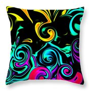 Abstract Series 5 Number 1 Throw Pillow