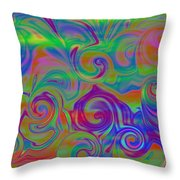 Abstract Series 5 Number 3 Throw Pillow