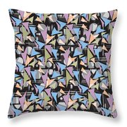 Abstract Shapes Collage Throw Pillow
