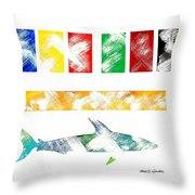 Abstract Shark Throw Pillow
