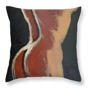 Abstract Sienna Torso - Female Nude Throw Pillow