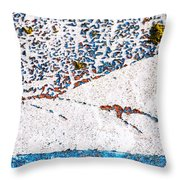 Abstract Snow Storm Throw Pillow