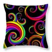 Abstract - Spirals - Inside A Clown Throw Pillow by Mike Savad