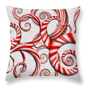 Abstract - Spirals - Peppermint Dreams Throw Pillow
