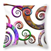 Abstract - Spirals - Planet X Throw Pillow