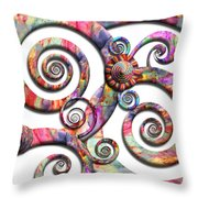 Abstract - Spirals - Wonderland Throw Pillow