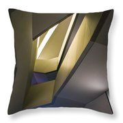 Abstract Stairwell Throw Pillow