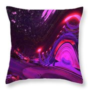 Abstract Street Scene Throw Pillow