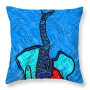Abstract Strings 4 Throw Pillow