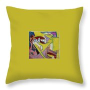 Abstract Study 1985 Throw Pillow
