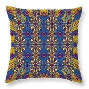 Abstract Sun Rays And Rings Throw Pillow