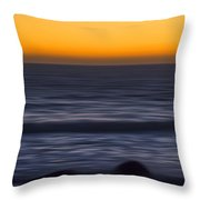 Pacific Abstract Sunset Throw Pillow