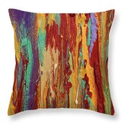 Abstract Sunset Over Tuscany  Throw Pillow