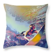Abstract Surf Throw Pillow