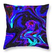 Abstract Swirl Art Throw Pillow