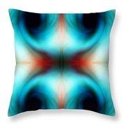Abstract Swirls Throw Pillow