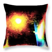 Abstract System B Throw Pillow