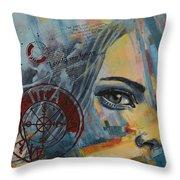 Abstract Tarot Art 022a Throw Pillow