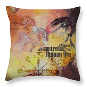 Abstract Tarot Art 023 Throw Pillow
