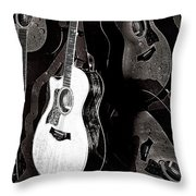 Abstract Taylor Guitars Throw Pillow
