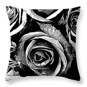 Dark Star Roses For David Bowie Throw Pillow