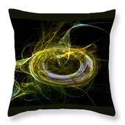 Abstract - The Ring Throw Pillow