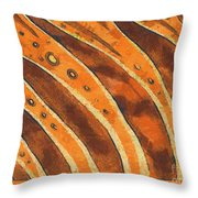 Abstract Tiger Stripes Throw Pillow
