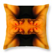 Abstract Toes Throw Pillow