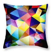 Abstract Triangles And Texture Throw Pillow