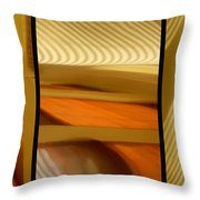 Abstract Triptych - Omaha Library Building Throw Pillow