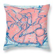 Abstract Us Throw Pillow