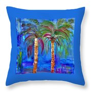 Abstract Venice Palms Throw Pillow