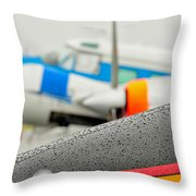 Abstract View Of Airshow During A Rain Storm Throw Pillow